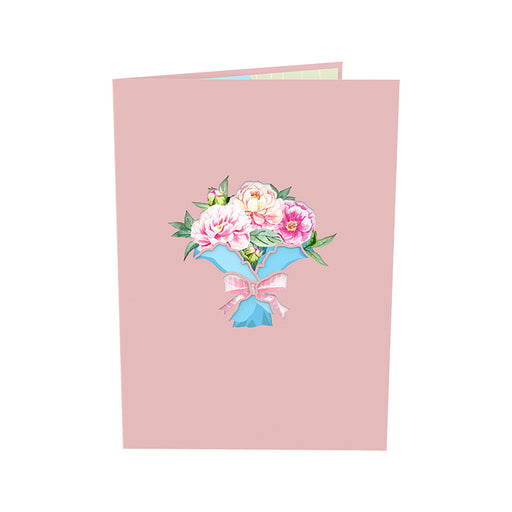 Bouquet of Peony Pop Up Card