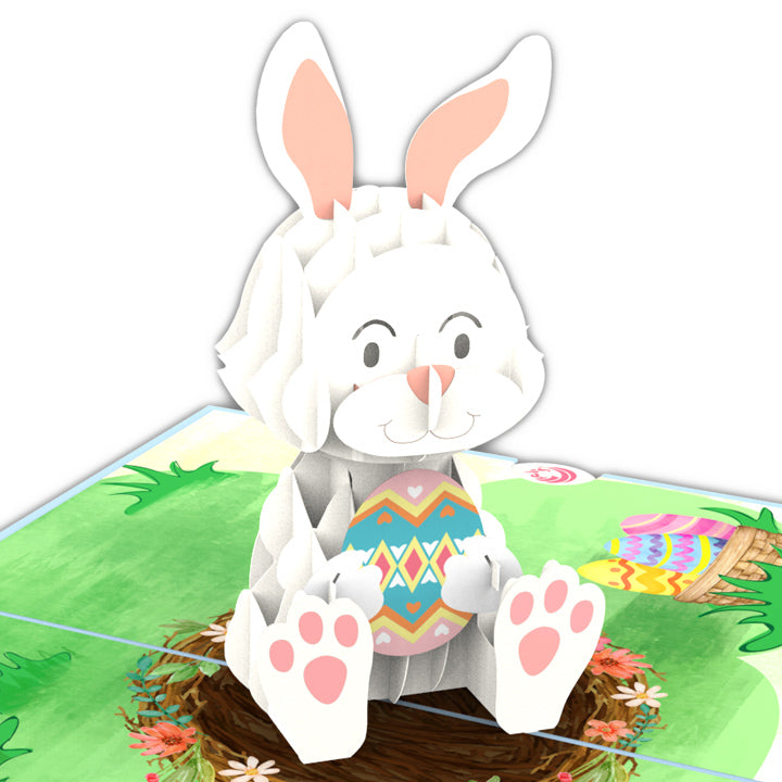 Bunny Easter Pop Up Card
