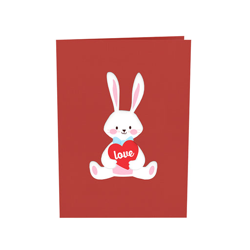 Bunny Valentine Pop up card