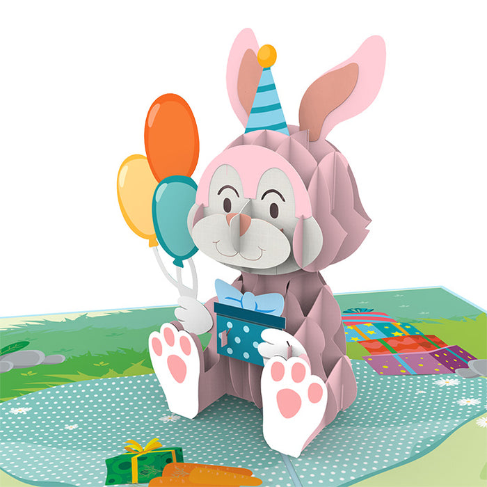 Bunny Birthday Pop Up Card
