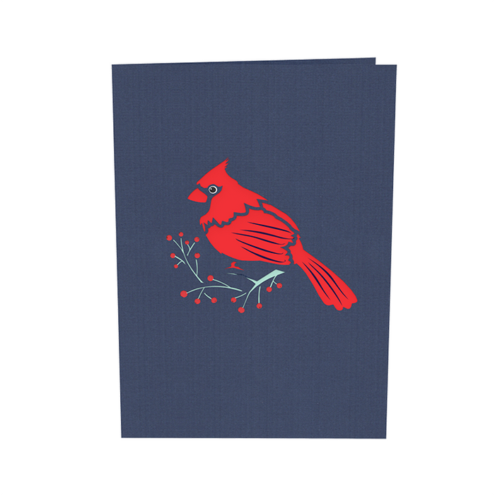 Cardinal Bird Pop Up Card