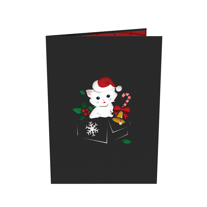 Cats Christmas Pop Up Card