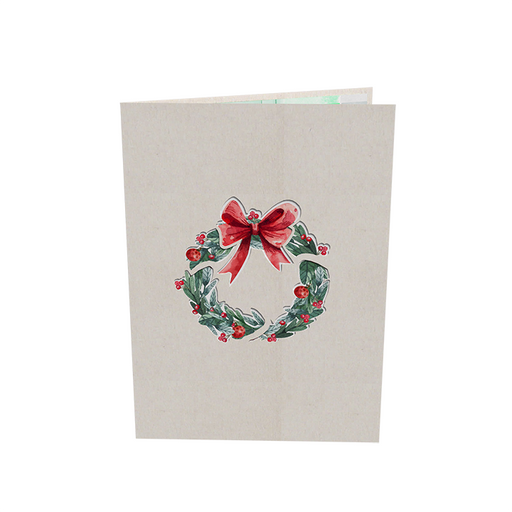 Christmas Wreath Pop Up Card