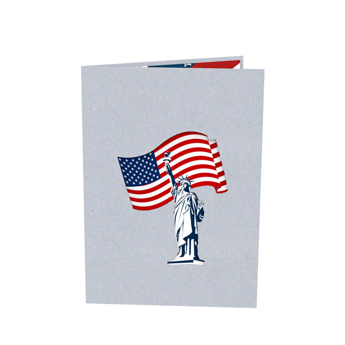 Flag Day Pop up card Outside