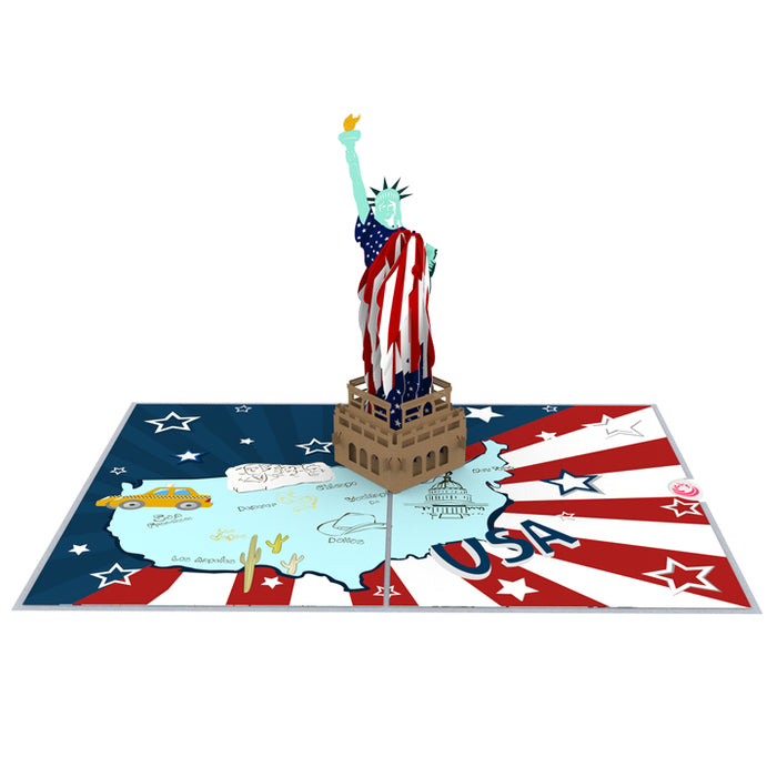 Flag Day Pop up card model unipop