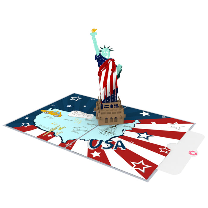 Flag Day Pop up card note