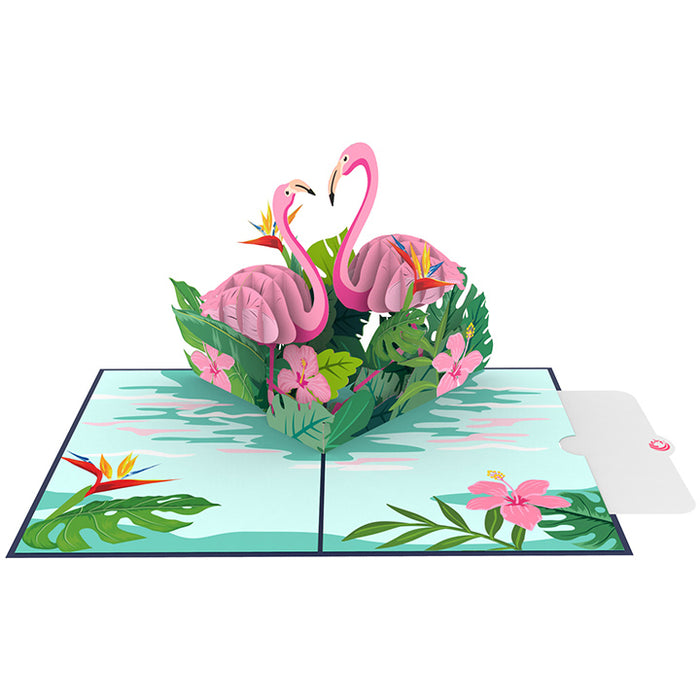 Flamingo pop up card Note