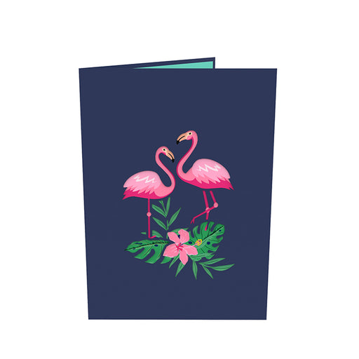 Flamingo pop up card Outside