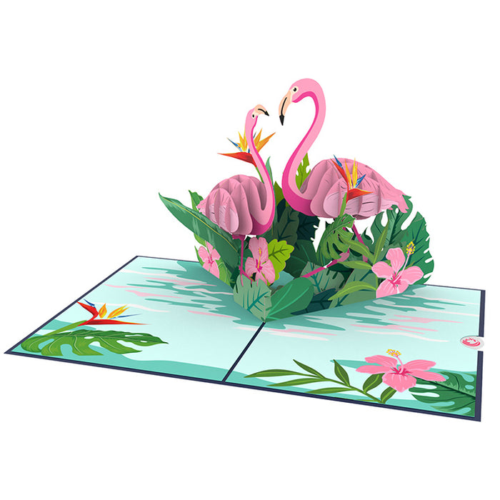Flamingo pop up card thumbnail