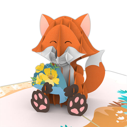 Fox Valentine Pop up card
