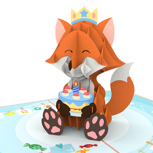 Fox Birthday Pop up card