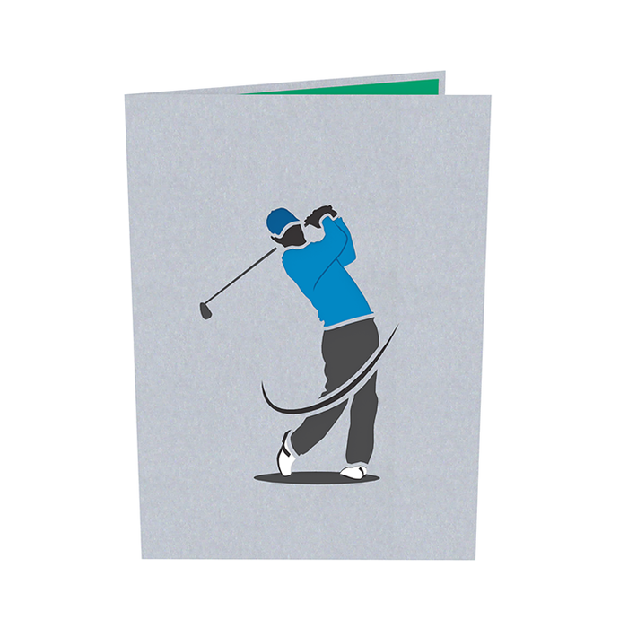 Golf pop up card Outside