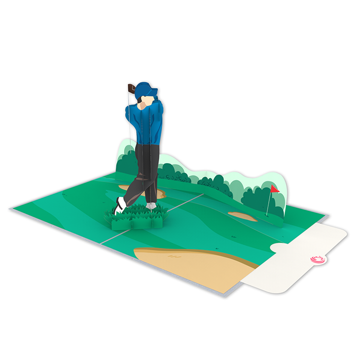 Golf pop up card notel