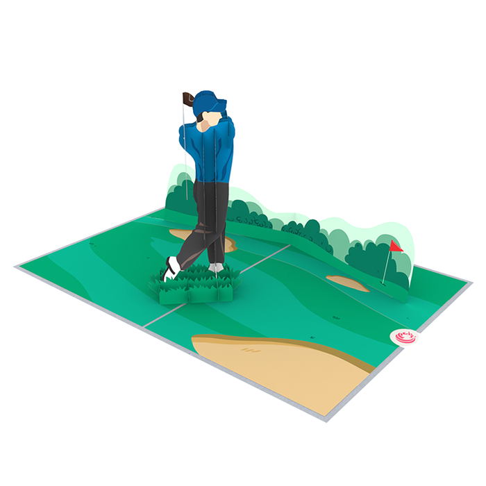 Golf pop up card thumbnail