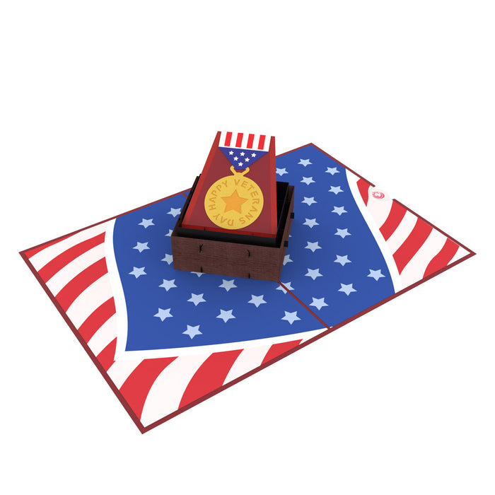 Happy veterans day pop up card thumbnail