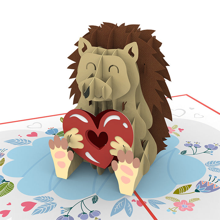 Hedgehog Love Pop Up Card
