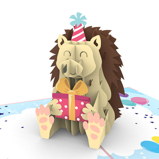 Hedgehog Birthday Pop Up Card