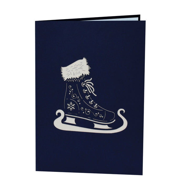 Ice Skates Pop Up Card