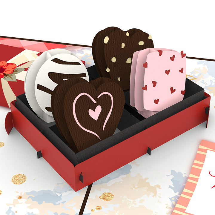 Love Chocolate Pop Up Card