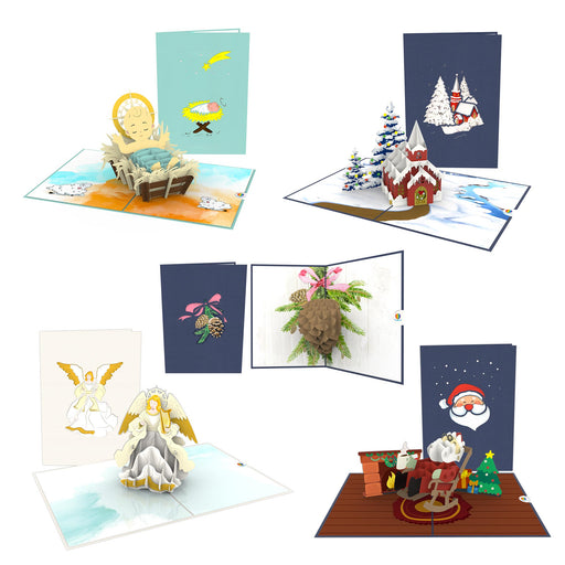 Night Before Christmas 5 Pack Pop Up Card