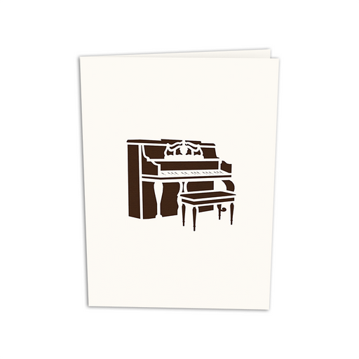 Classical Upright Piano Pop Up Card