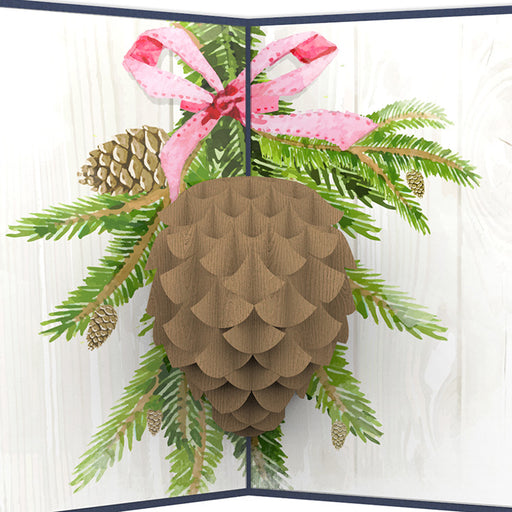 Pinecone Pop Up Card