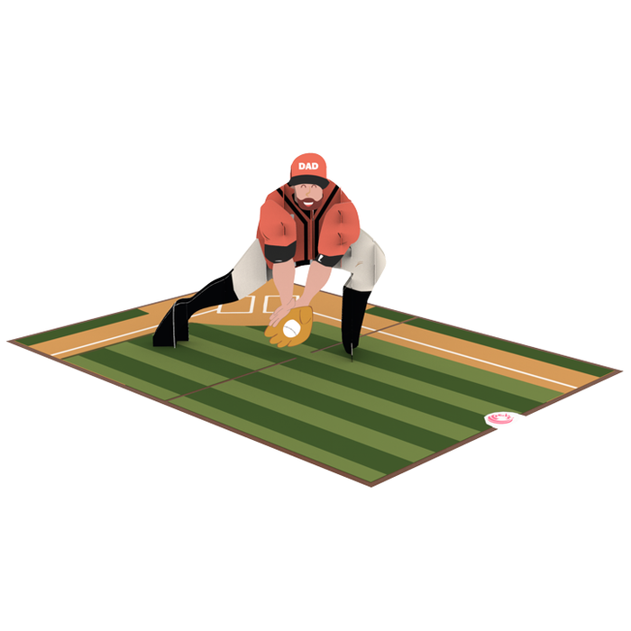 Playing Baseball with Dad pop up card thumbnail