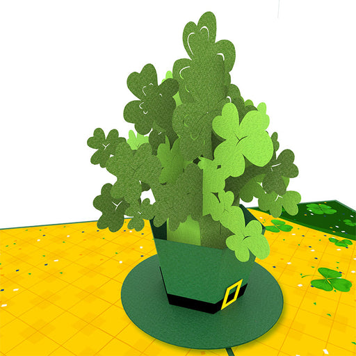 Saint Patrick Clovers Pop Up Card