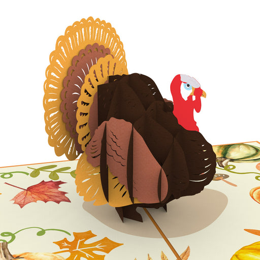 Thanksgiving Turkey pop up card model unipop