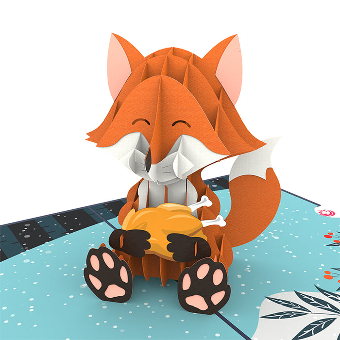 Happy Fox Pop Up Card