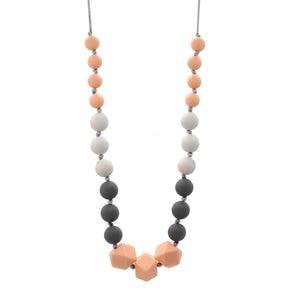 Peach & Grey Nursing Necklace