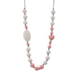 Pink Heart Nursing Necklace