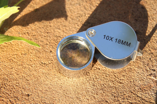21mm.  10x Jewelers Loupe - Silver