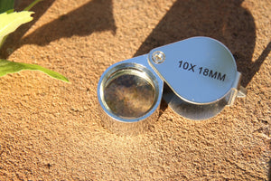 18mm.  10x Jewelers Loupe - Silver