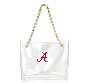 Clear Handbag with Gold Chain- Alabama