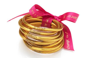 All Weather Gold Bangles Serenity Prayer