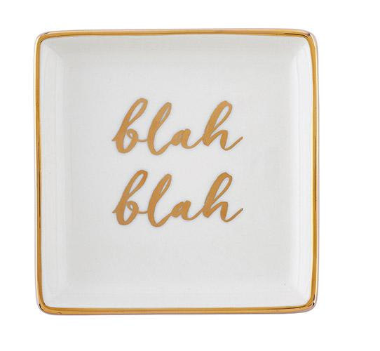 """Blah Blah"" Trinket Tray"