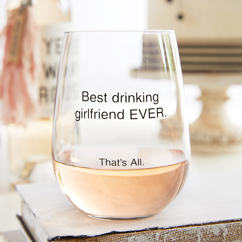 Stemless Wine Glass- Drinking Girlfriend