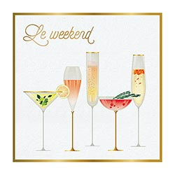 Cocktail Napkin - Le Weekend