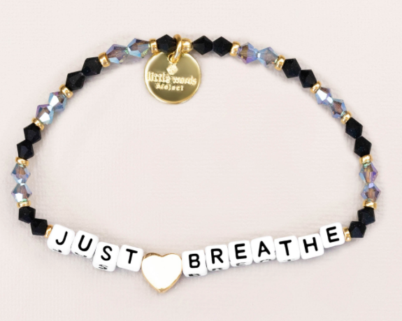 "Little Words Project ""Just Breathe"" Bracelet"