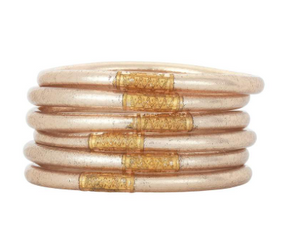Champagne All Weather Bangles (set of 6)