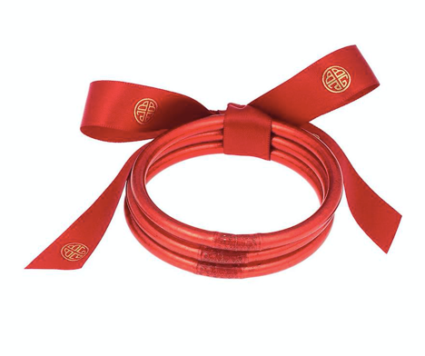 Crimson All Weather Bangles (set of 3)