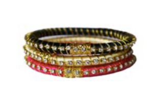 Malia Silk Wrap Bangle- Set of 3