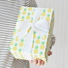Preppy Pineapple Gift Wrap