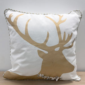 Yuletide Pillow White Gold