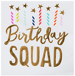 """Birthday Squad"" Beverage Napkins 20 ct."