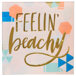 """Feelin' Beachy"" Beverage Napkins"