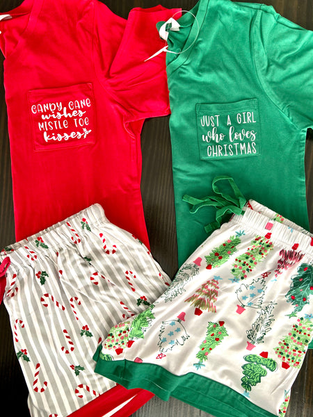 Holly Jolly Sleep Shorts