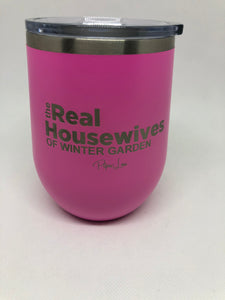 Real Housewives 12oz.  Stemless Wine Glass- Winter Garden