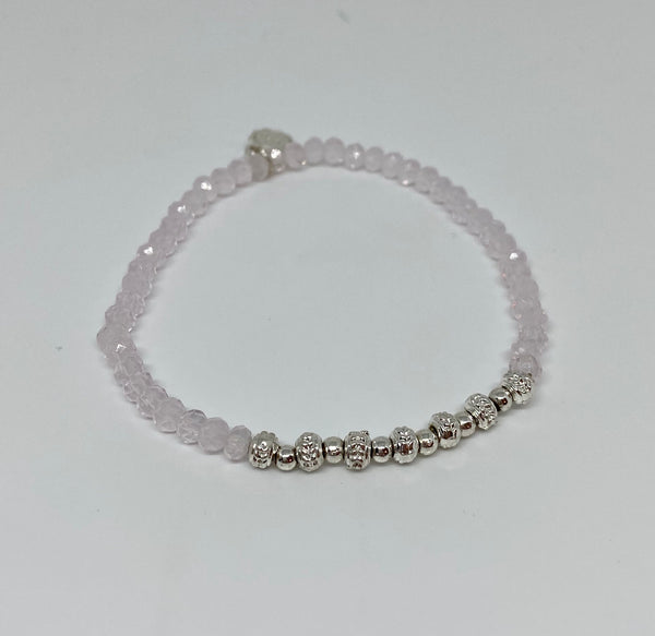 Liza's Silver Beaded Stretch Bracelet
